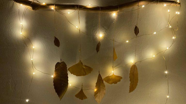 DIY hojas secas